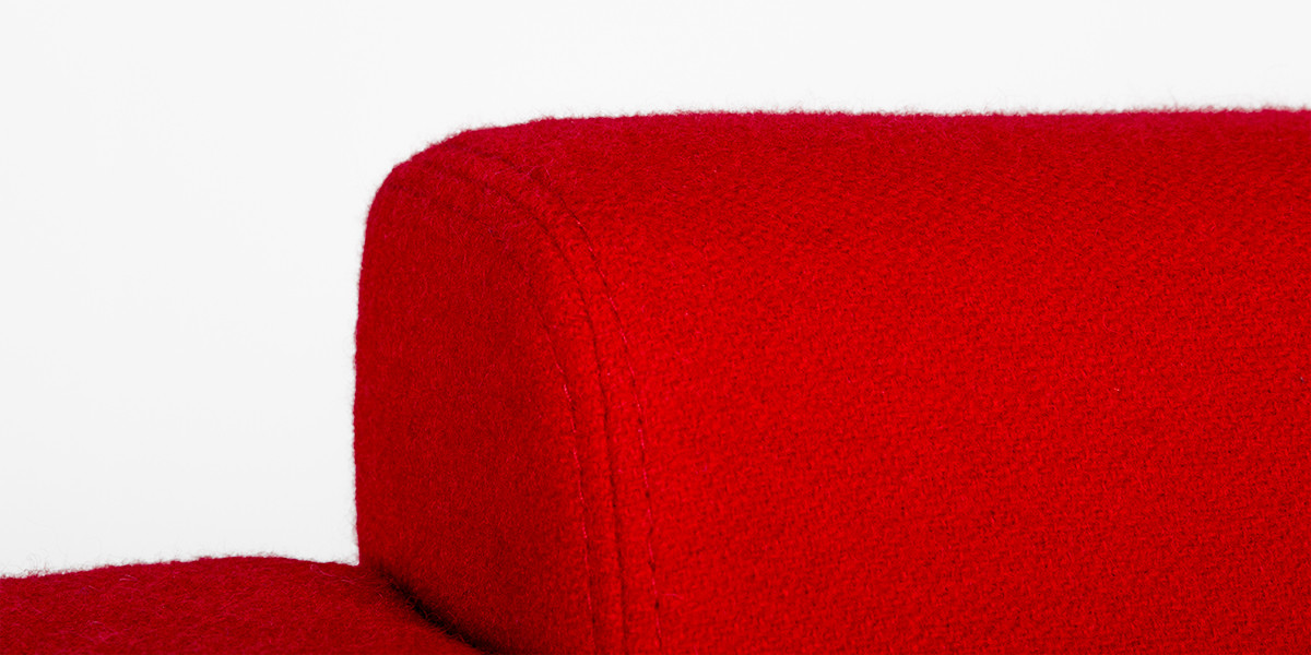 Red Fabric Modern Club Chair CHR010215