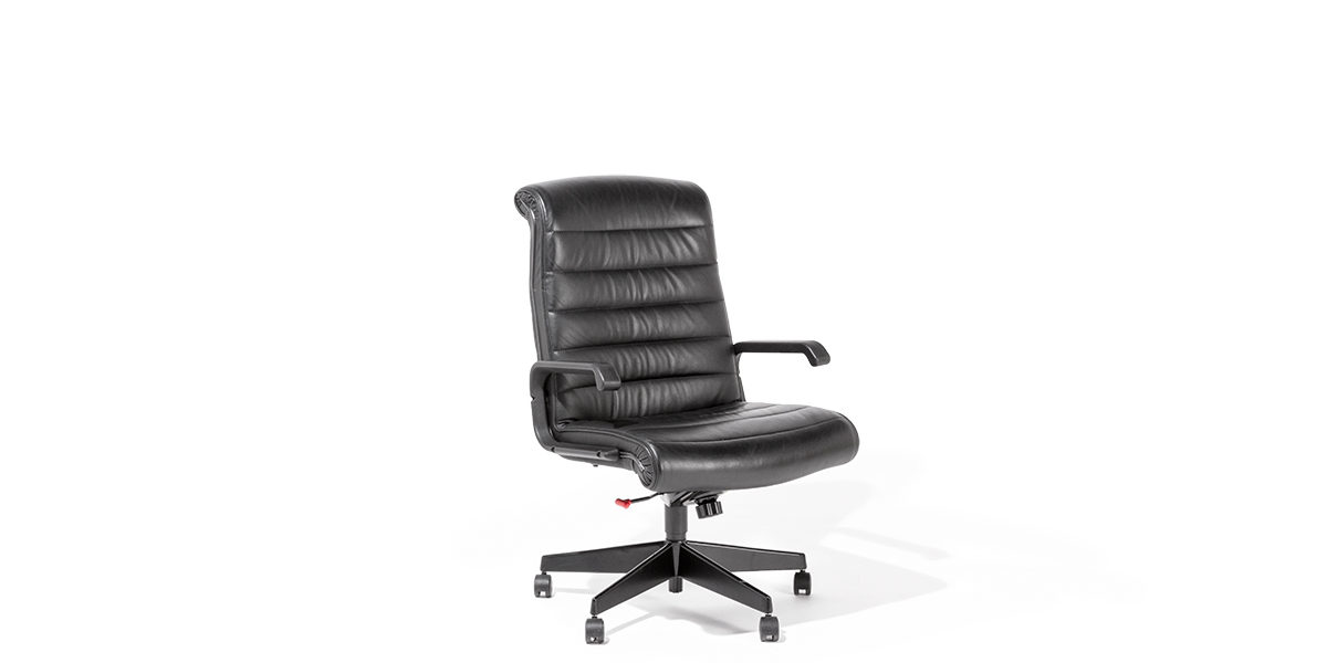 Black Leather Hi-Back Sapper Chair CHR010683