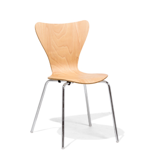 Natural Wood Jacobsen Stack Chair CHR013985
