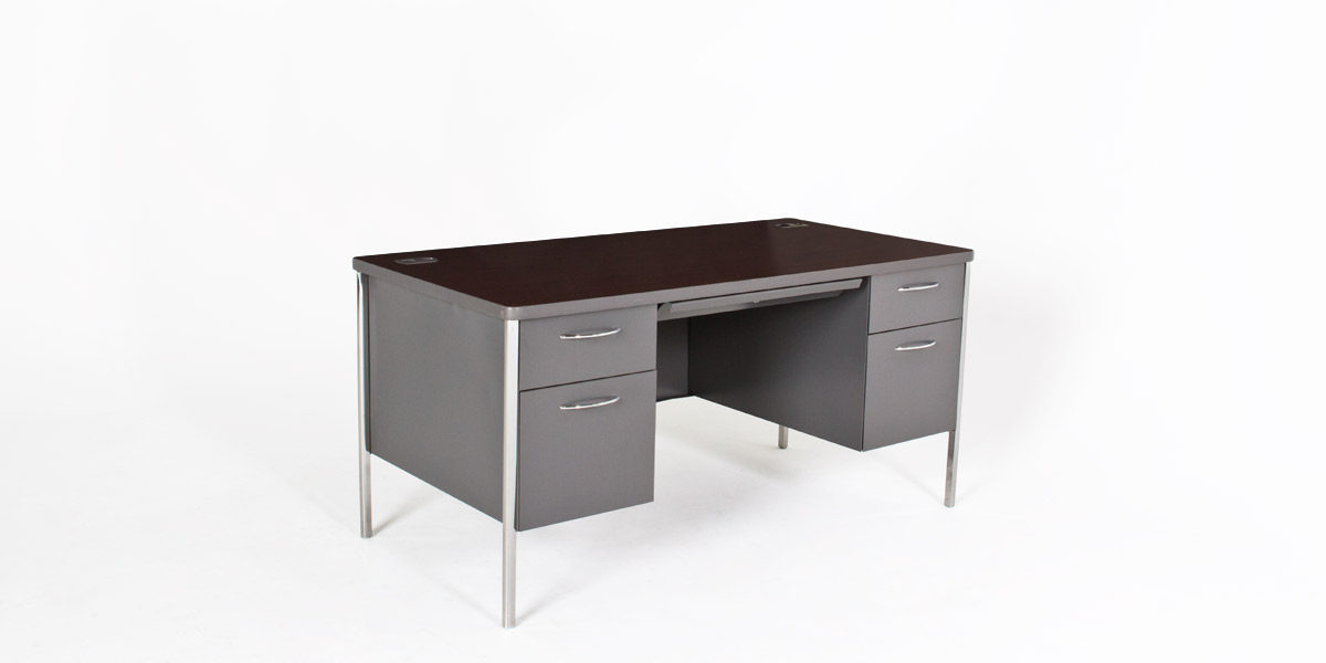 "60""w x 30""d Charcoal Grey Desk DSK010380"
