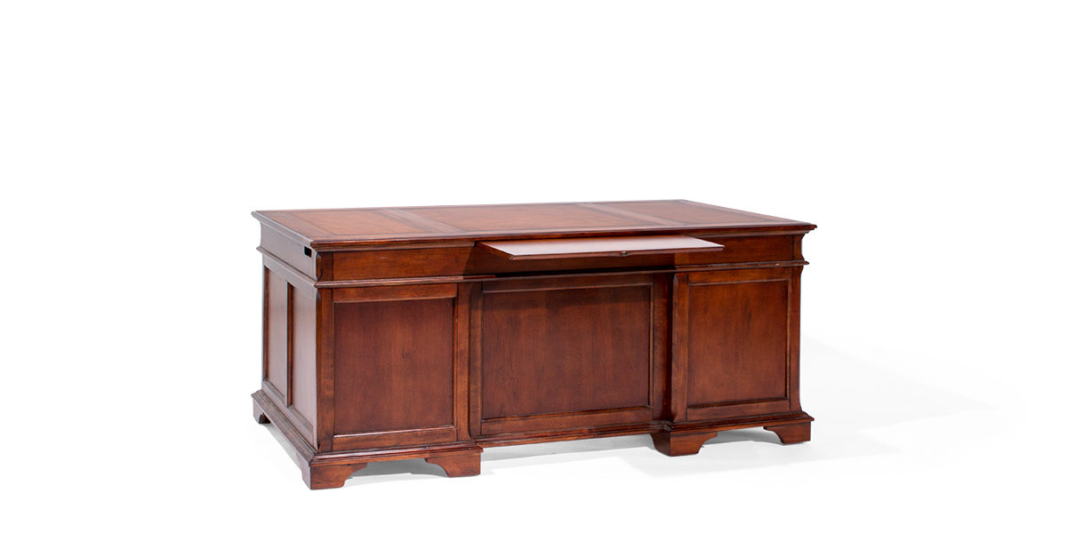 "72""w x 36""d Traditional Mahogany Executive Desk DSK013937"