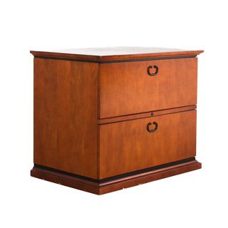 FIL012463 - two-drawer lateral file in cherry veneer - thumbnail