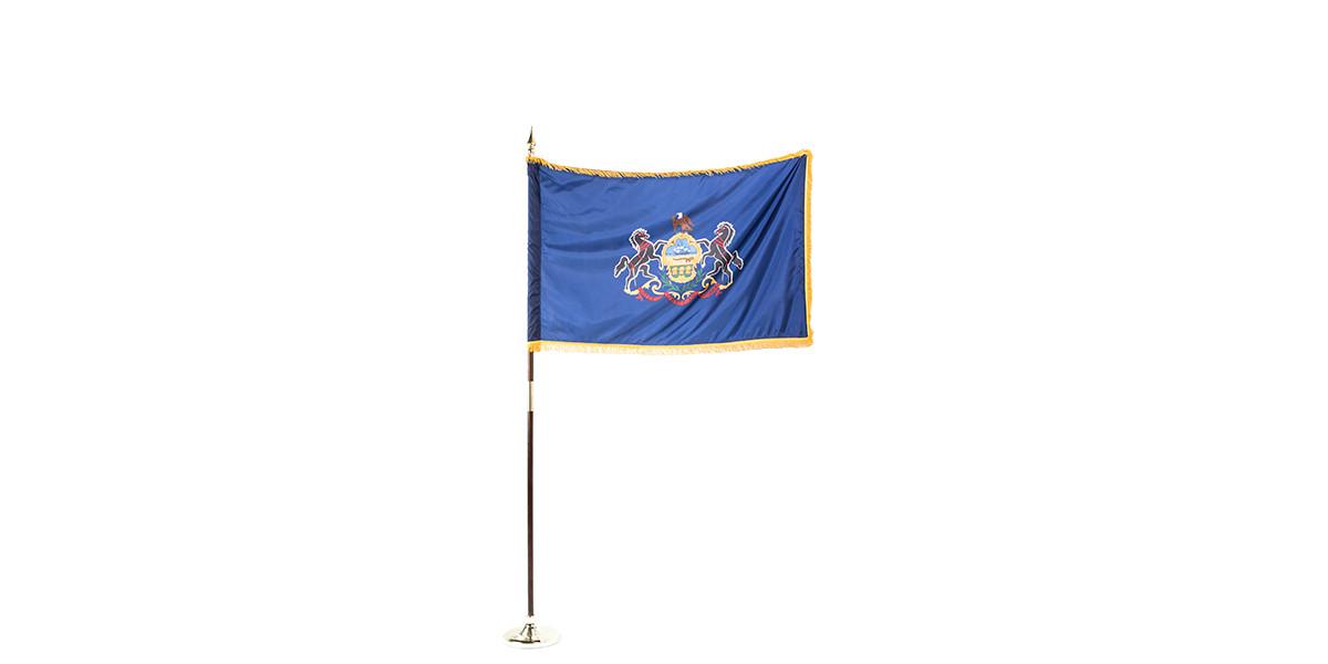 """60""""w x 36""""h Pennsylvania State Flag FLG013906"""