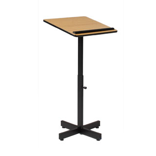 "20""w x 35""-48""h Light Oak Lectern LEC013867"