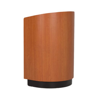"""21.25""""w x 47.5""""h Cherry Rounded Lectern LEC013870"""