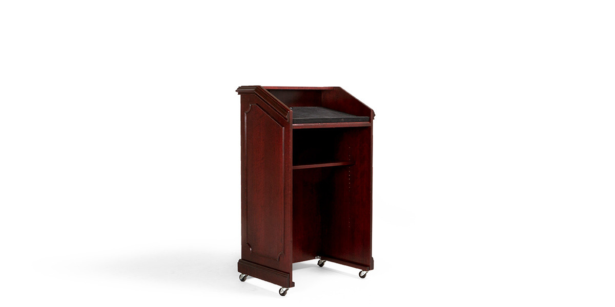 "28""w x 48""h Traditional Dark Cherry Lectern LEC013923"