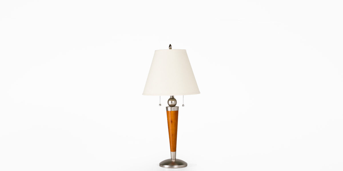 "31""h Walnut Table Lamp LGT014255"
