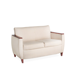 "53.5""w x 29""d Beige Fabric Loveseat LVS006334"