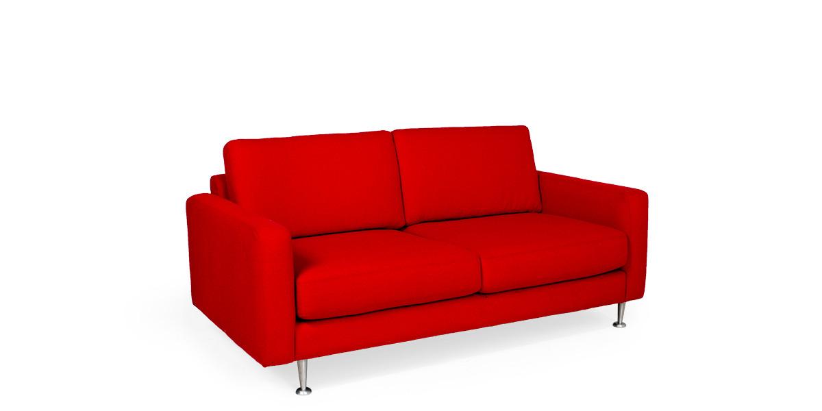 "69""w x 36""d Red Fabric Loveseat LVS010214"