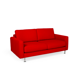 "69""w x 36""d Red Fabric Loveseat LVS010214"