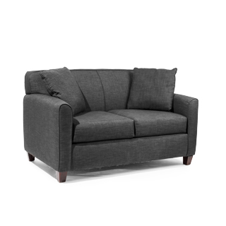 67''w x 38''d Dark Grey Fabric Loveseat LVS011610