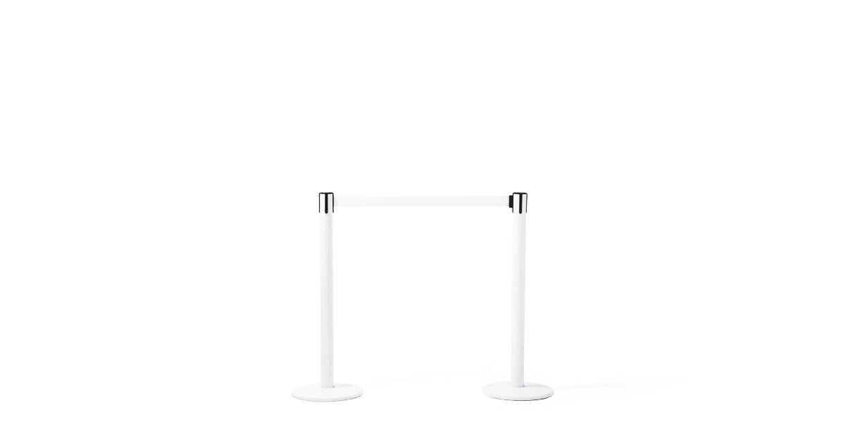 """39""""h Glossy White Stanchion MIS009596"""