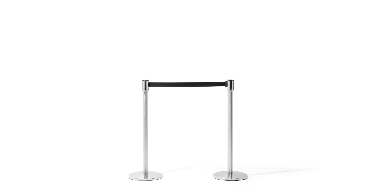 "39""h Satin Chrome Stanchion MIS009603"