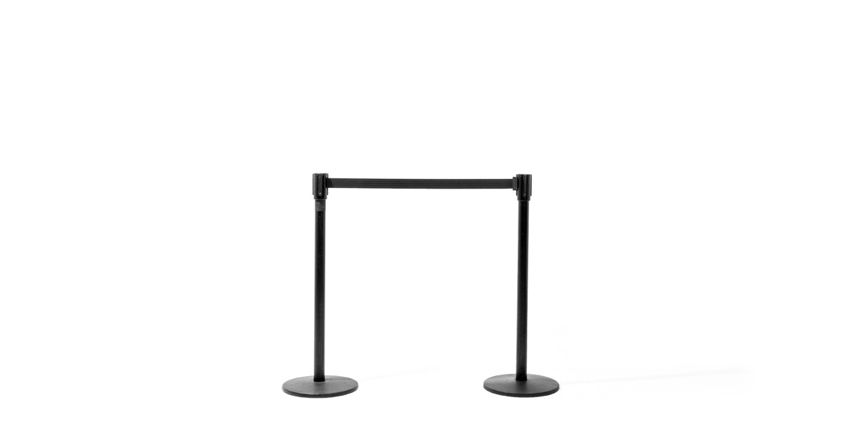 "39""h Black Stanchion MIS010751"