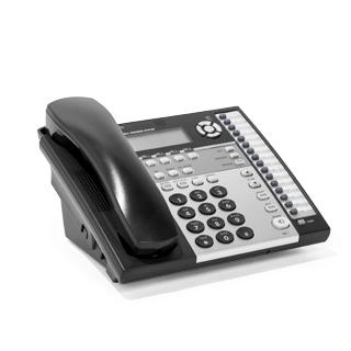"9""w x 9""d Black + Silver Telephone MIS011973"