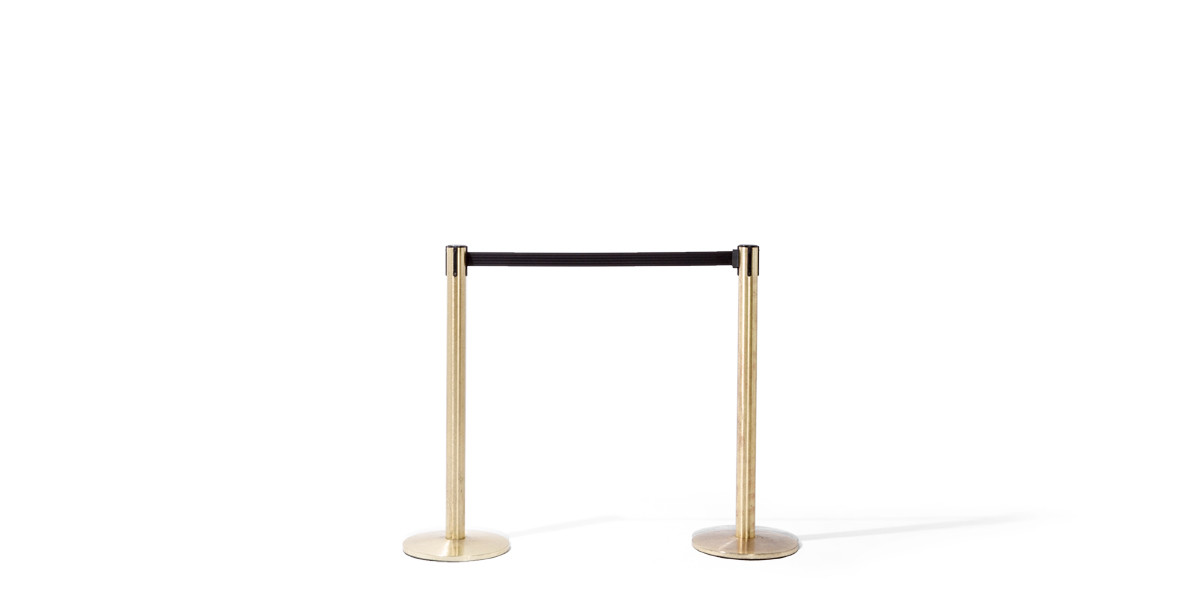 "39""h Satin Brass Stanchion MIS012675"