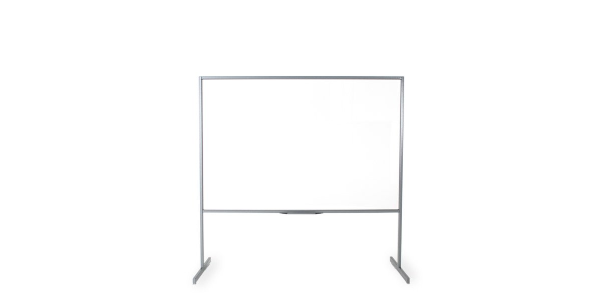 "72""w x 73.75""h Clear Vision Acrylic Marker Board MIS013085"