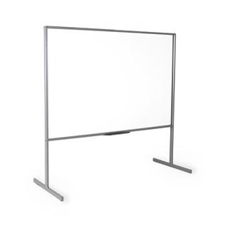 "72""w x 73.75""h Clear Vision Acrylic Marker Board MIS013085"