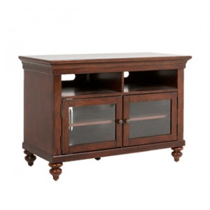 "44""w x 21""d Mahogany Veneer Entertainment Console MIS013654"