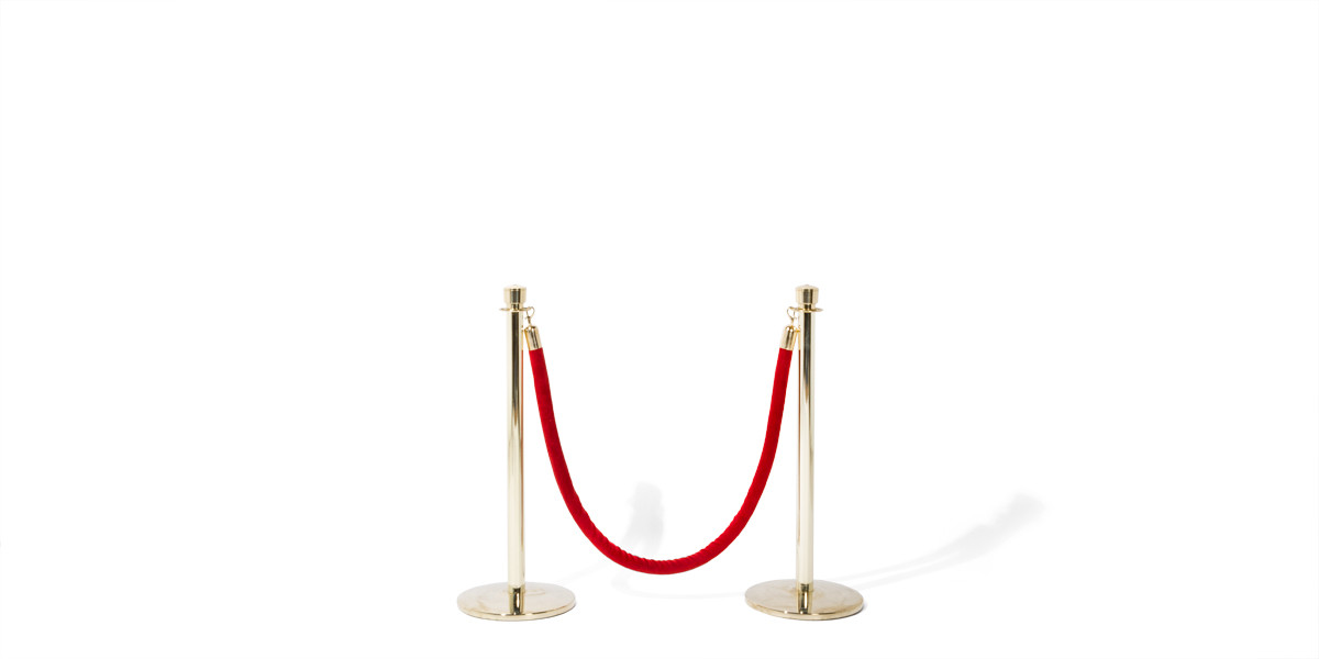 "38.5""h Polished Brass Stanchion MIS013748"
