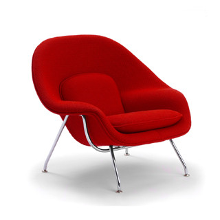 Red Fabric Saarinen Womb Chair CHR012447