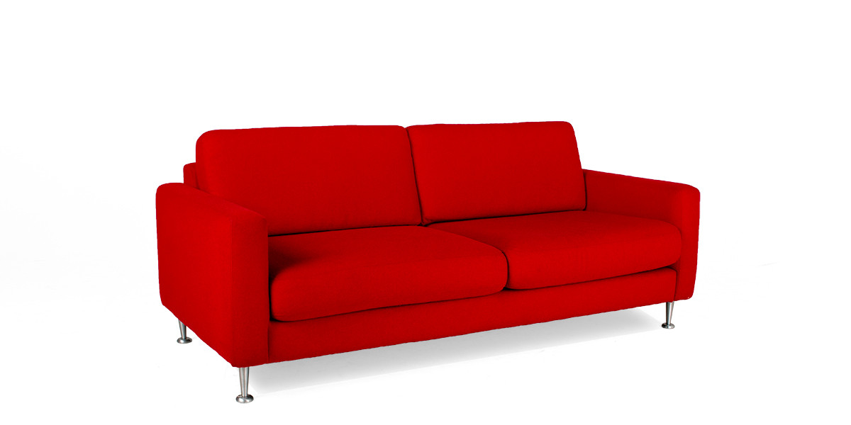 "80""w x 36""d Red Fabric Sofa SOF010213"