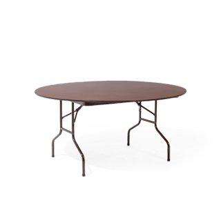 "60""dia Walnut Round Folding Table TBL002517"