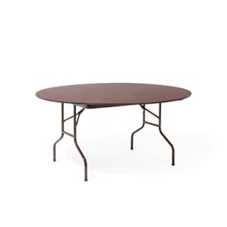 "60""dia Walnut Round Folding Table TBL002517"
