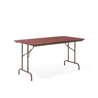 """60""""w x 30""""d Walnut Folding Table TBL002536"""