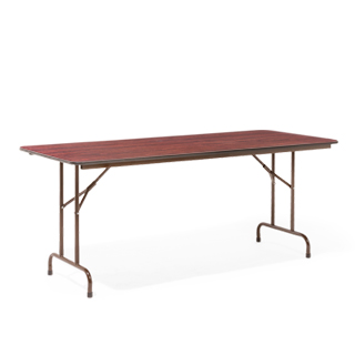 "72""w x 30""d Walnut Folding Table TBL002537"