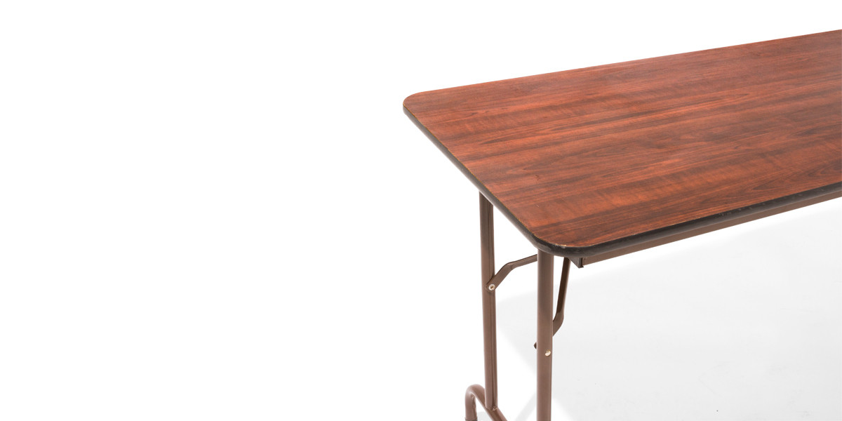 "48""w x 24""d Walnut Folding Table TBL004017"