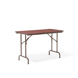 """48""""w x 24""""d Walnut Folding Table TBL004017"""