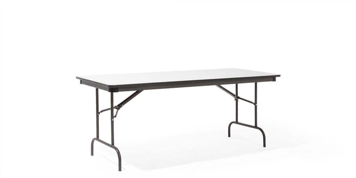 "72""w x 30""d Grey Folding Table TBL004034"