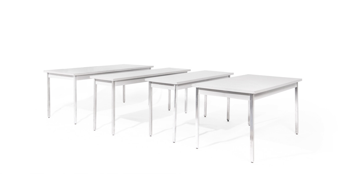"72""w x 30""d Grey Laminate Work Table TBL008865"