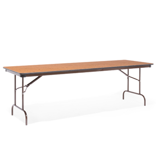 "96""w x 30""d Medium Oak Folding Table TBL009142"