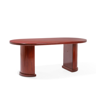 "72""w x 36""d Dark Cherry Racetrack Conference Table TBL010719"