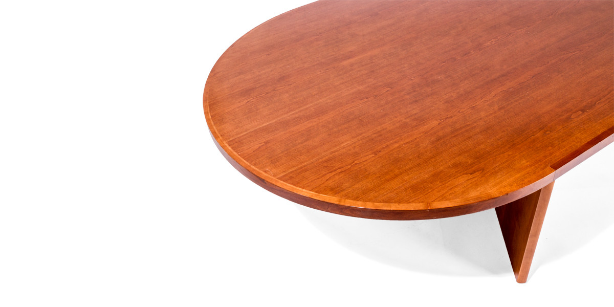 "144""w x 42""d Cherry Racetrack Conference Table TBL012342"