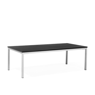 "48""w x 24""d Black Laminate Coffee Table TBL013689"