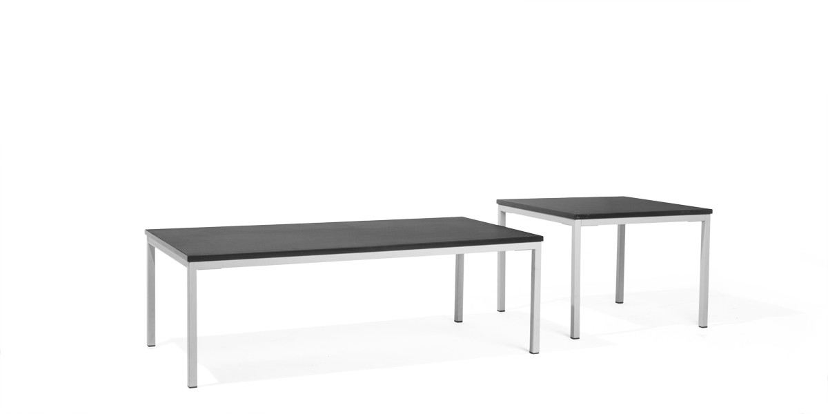 48 W X 24 D Black Laminate Coffee Table Tbl013689 Arenson Office Furnishings