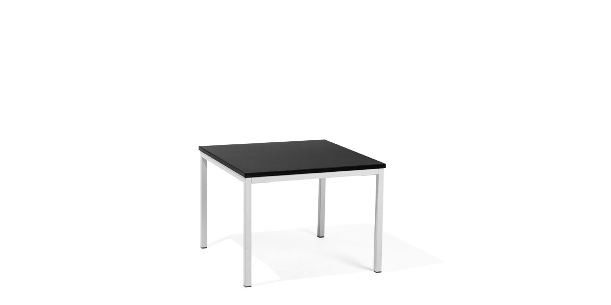 24″w x 24″d Black Laminate Side Table TBL013690