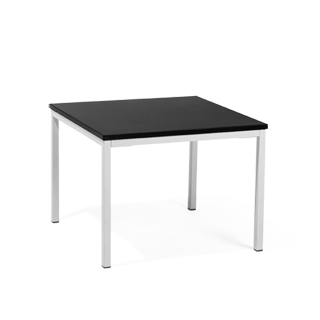 "24""w x 24""d Black Laminate Side Table TBL013690"