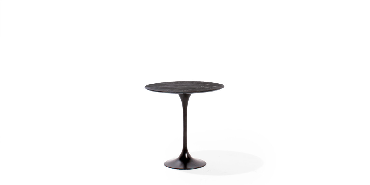 "20.5""dia Black Round Side Table TBL013916"