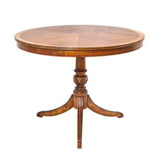 "40""dia Walnut Round Occasional Table TBR013601"