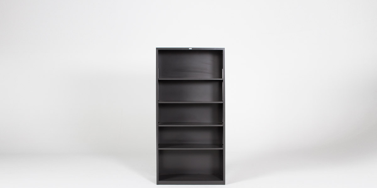 "34.5"" x 71"" Metal Bookcase by Hon BOOK107"
