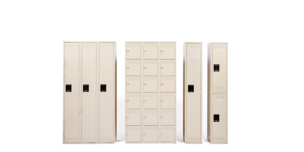 """36""""w x 18""""d Putty Eighteen Boxed Compartment Locker CAB009597"""