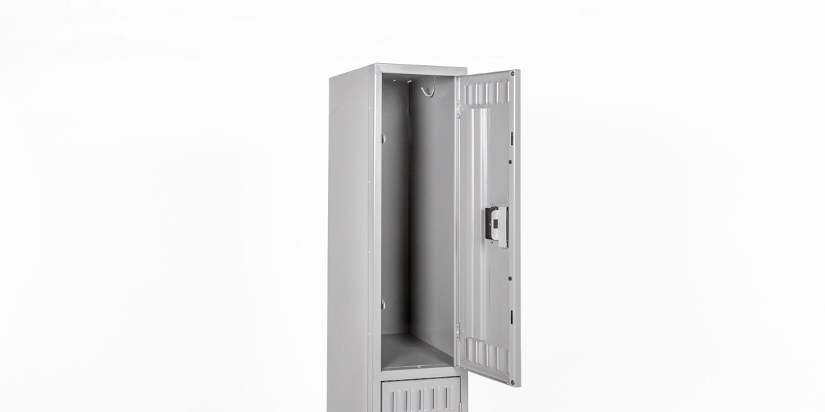 "12""w x 18""d Medium Grey Double Door Locker CAB012218"
