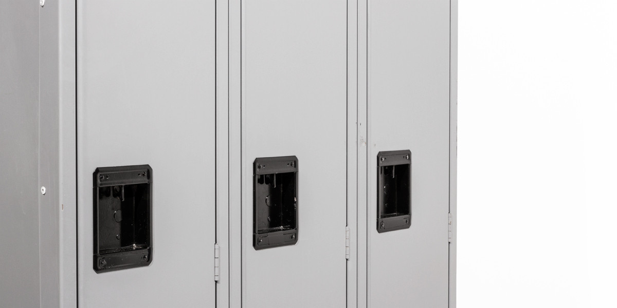 "36""w x 18""d Medium Grey Three Single Door Locker CAB012219"