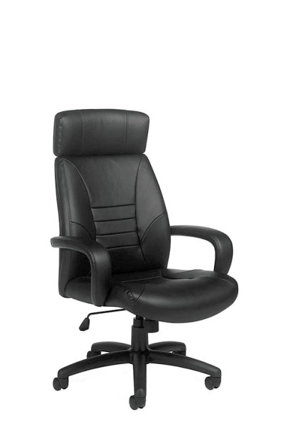 Black Leather Executive High-Back Conference Chair (qty:3) EXECUTIVE105