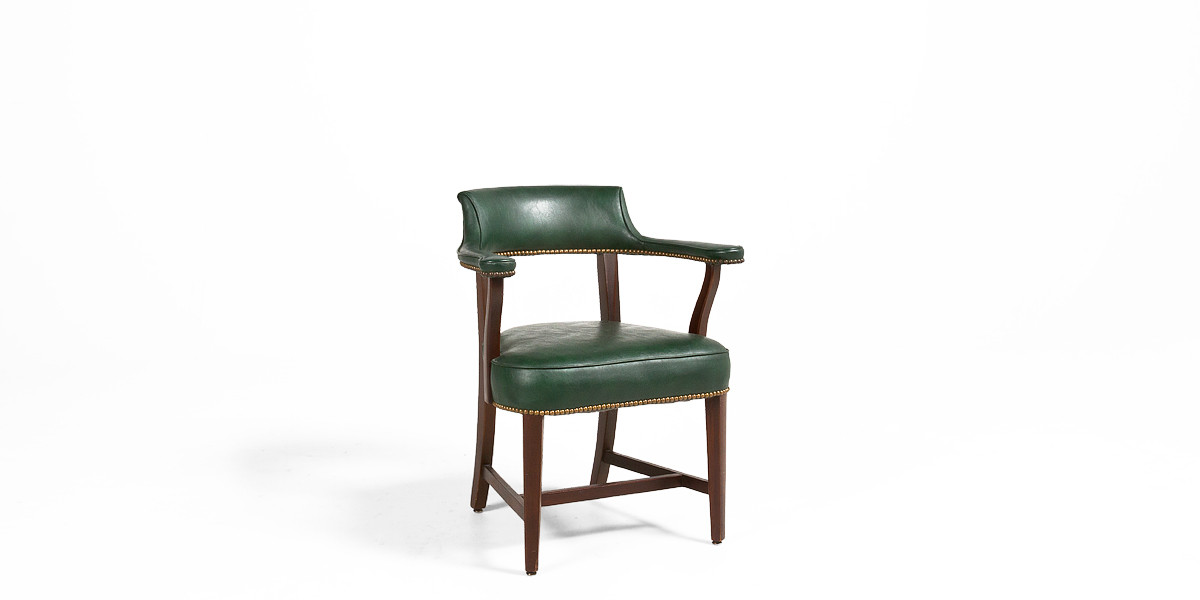 Green Leather Captain's Guest Chair (qty:2) GUEST171