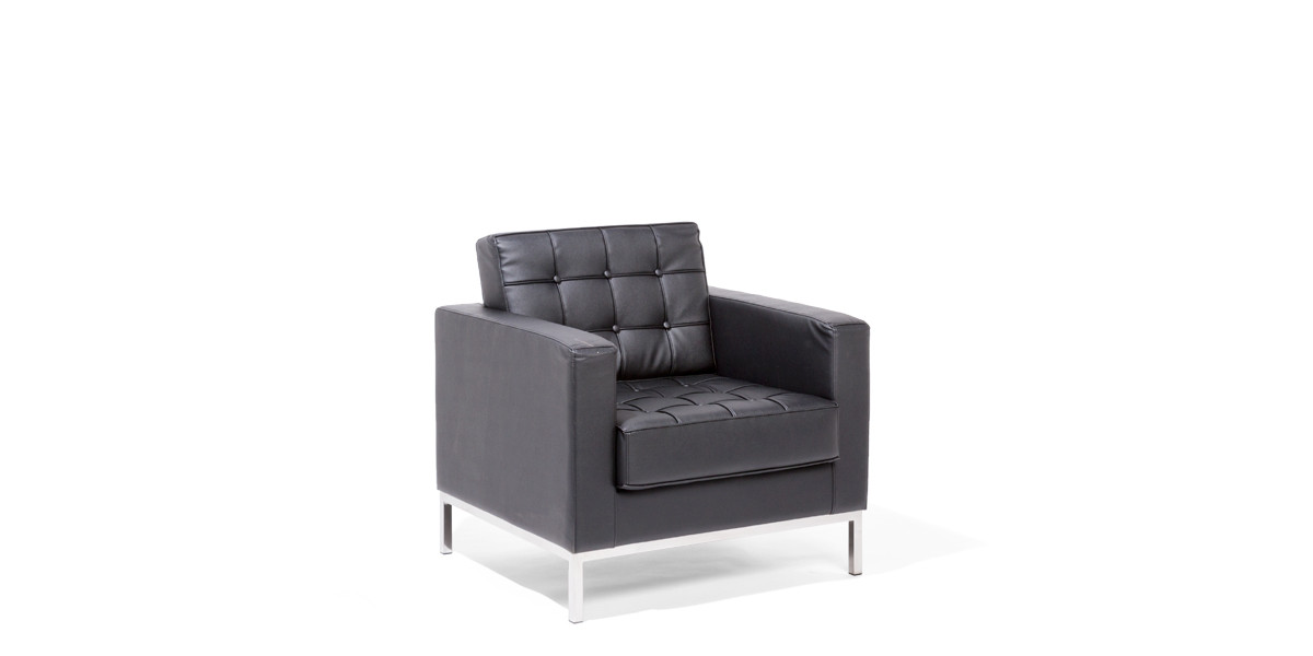 Black Leather Club Chair CHR013966